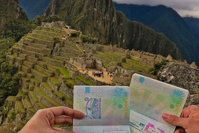 passports in machu picchu