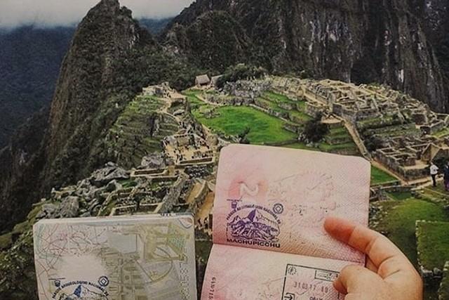 stamp of machu picchu