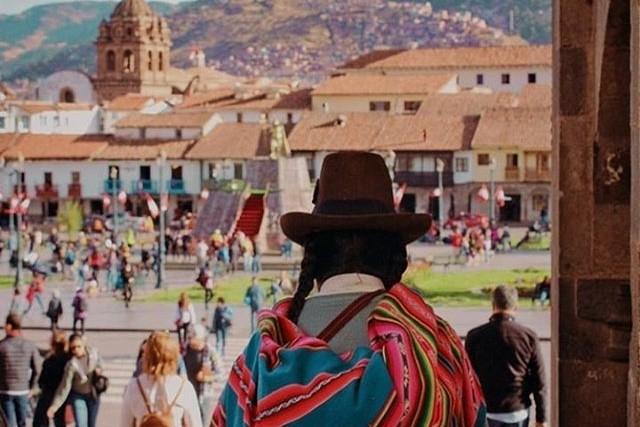 view of the plaza de armas in cusco